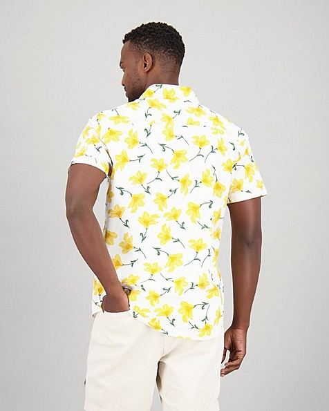 Men's Karabo Slim Fit Shirt -  yellow