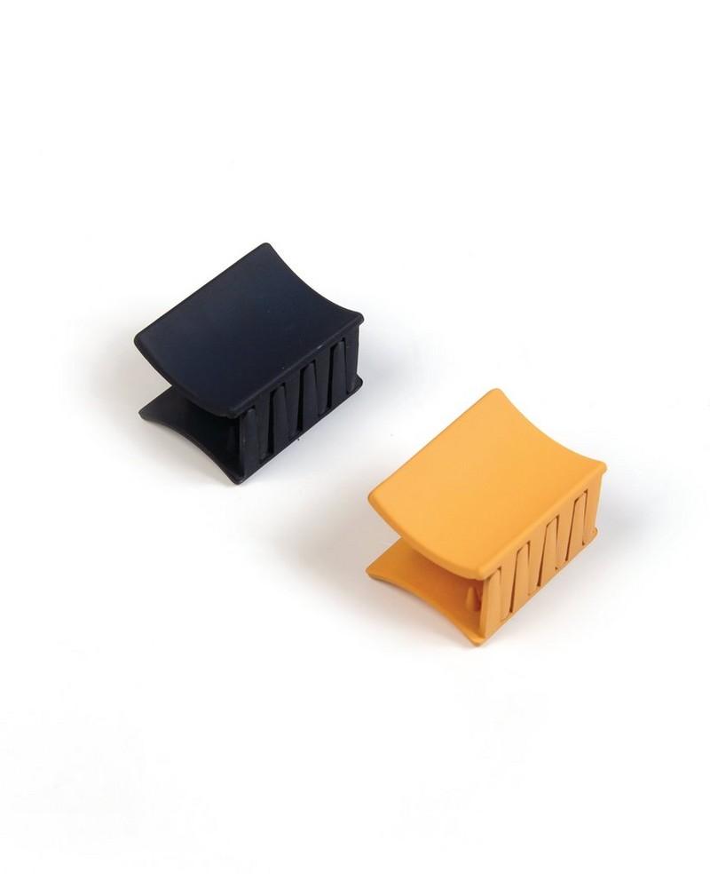 Cilna 2-Pack Epoxy Bulldog Hair Clips -  blue-yellow