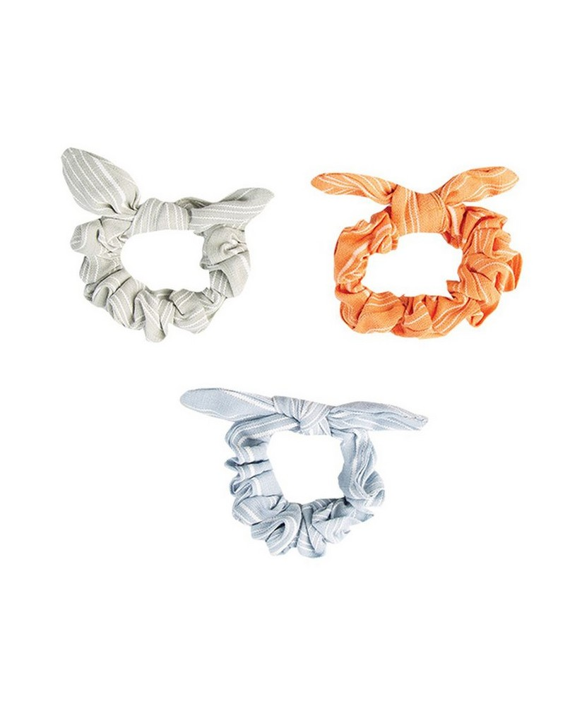 Earla 3-Pack Scrunchie Hair Ties -  assorted