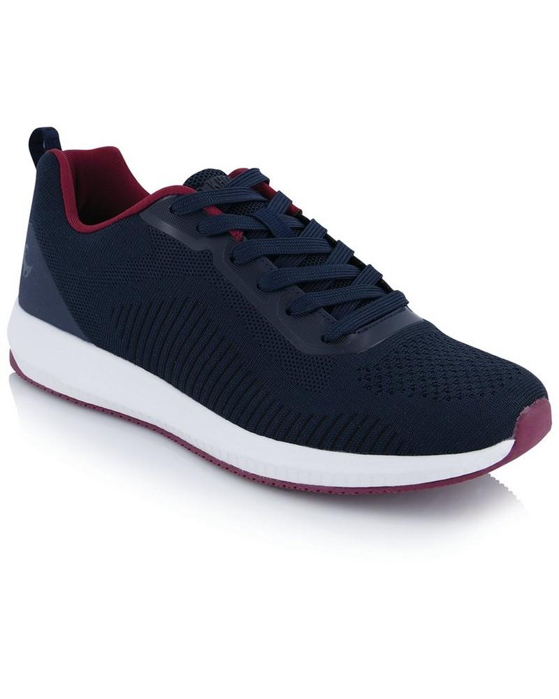 Men's Holt Sneaker -  navy-red