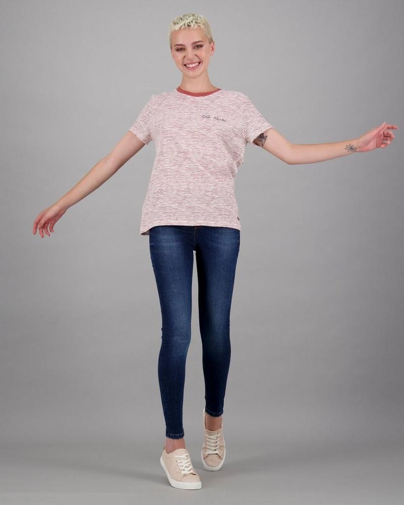 Women's Juno Stripe T-Shirt -  red-milk