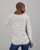Women's Echo Long Sleeve T-Shirt -  grey-milk