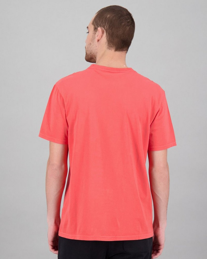 Men's Bandile Relaxed Fit T-Shirt -  coral