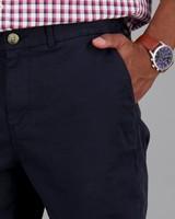 Men's Jared Narrow Straight Chinos -  navy