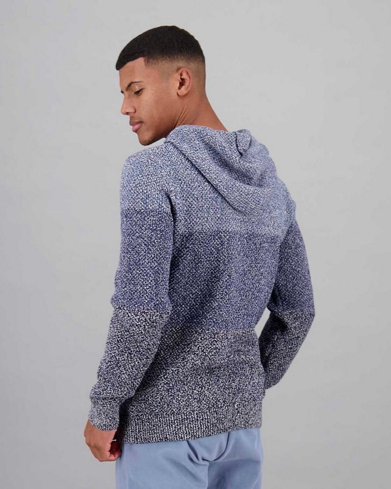 Men's Vinay Knitted Hoodie -  blue