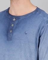 Men's Henderson Long Sleeve Standard Fit T-Shirt -  blue