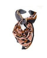 Women's Brielle Square Scarf -  black-rust