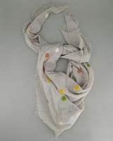 Women's Cleo Dotted Scarf -  grey-assorted