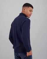 Men's Benji Polo Neck Pullover -  navy