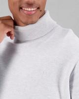 Men's Benji Polo Neck Pullover -  grey