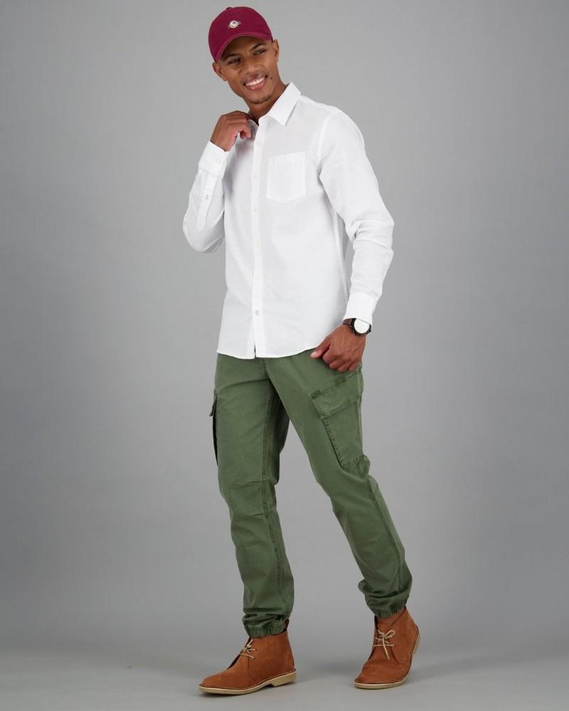 Men's Lane Slim Fit Shirt -  white