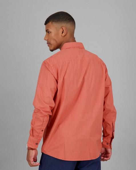 Men's Chief Regular Fit Shirt -  orange