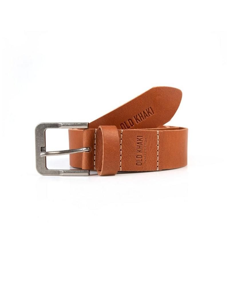 Men's Miles Branded Belt -  tan