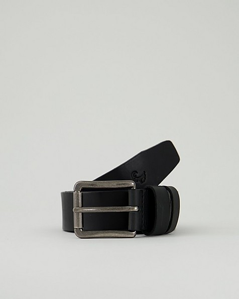 Men's Jonno Leather Belt -  black