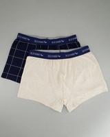 Men's 2-Pack Grid Underwear -  navy-grey