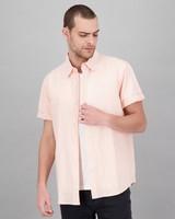 Men's Zac Regular Fit Linen Shirt -  watermelon