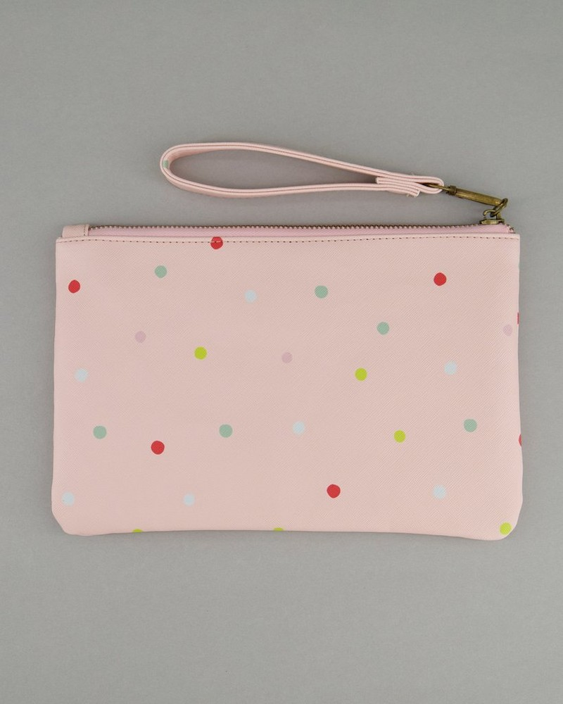 Women's Ayla Vegan Leather Dotted Pouch -  assorted pink