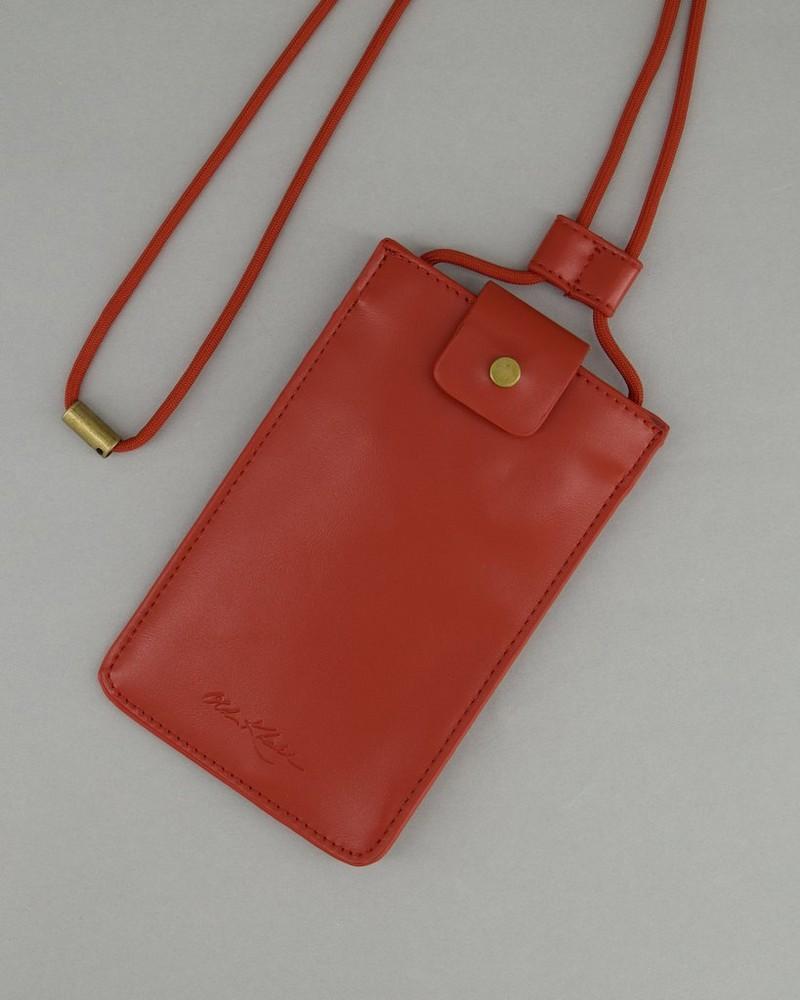 Women's Shea Phone Pouch -  rust