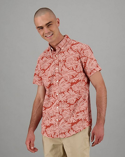 Men's Charl Slim Fit Shirt -  coral