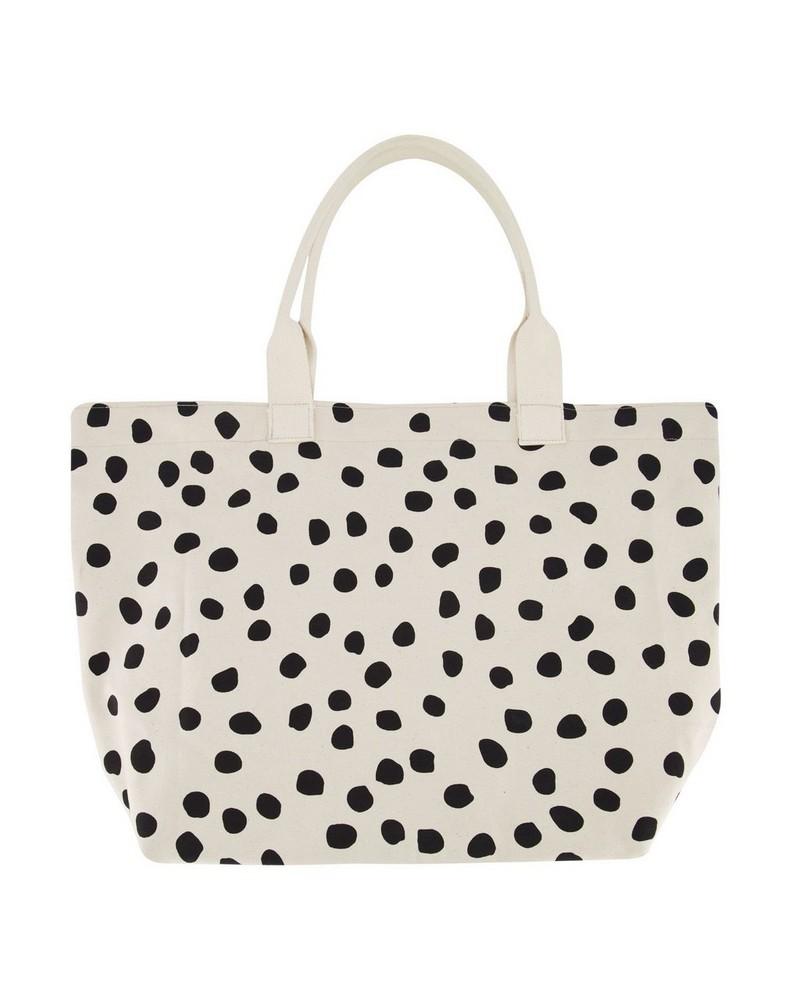 Women's Darcie Oversized Spotted Shopper Bag -  black-milk