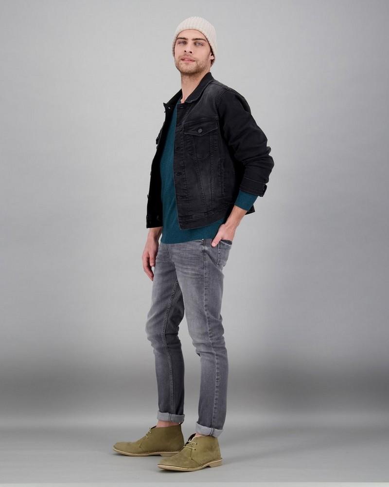 Men's Easton Denim Jacket -  black