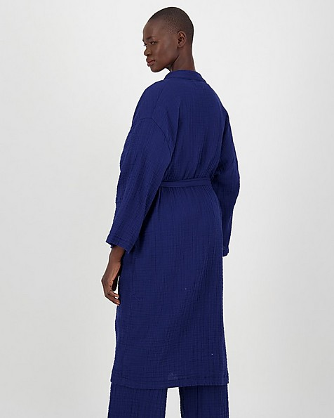 Stevie Waffle Gown -  navy