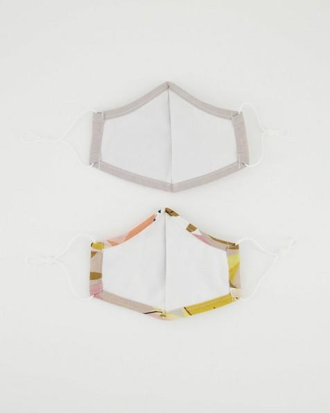 P 2pk Printed Fabric Mask - Abstract -  pink
