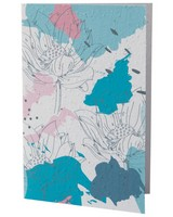Abstract Blues & Pink Flower Card -  assorted