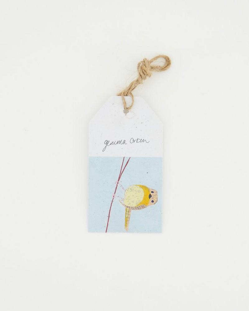 Gemma Orkin Bird Tag -  blue