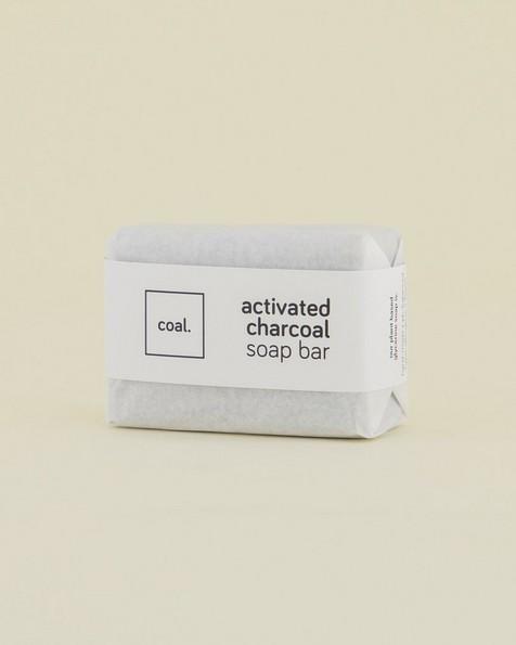 Coal Activated Charcoal Soap Bar -  black