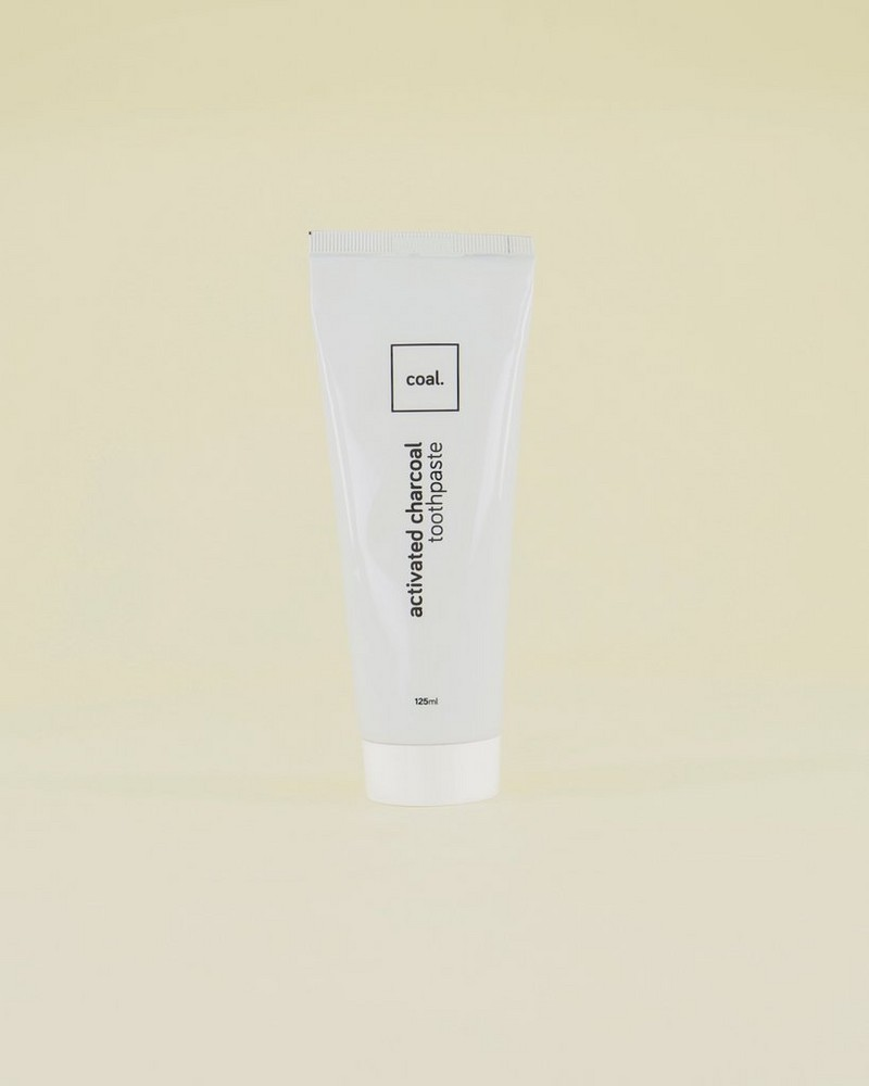 Coal Activated Charcoal Toothpaste -  white