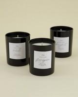 Frangipani Soy Beauty Candle -  black