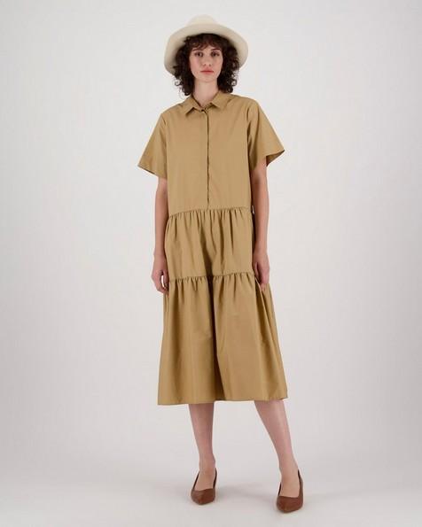 Stacy A-Line Dress -  camel