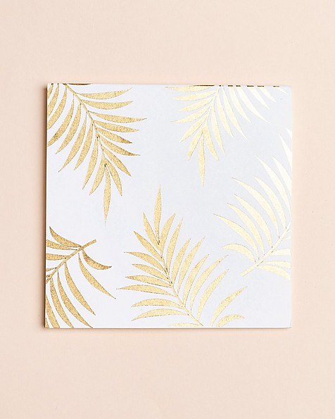 Gold Leaf Card -  gold