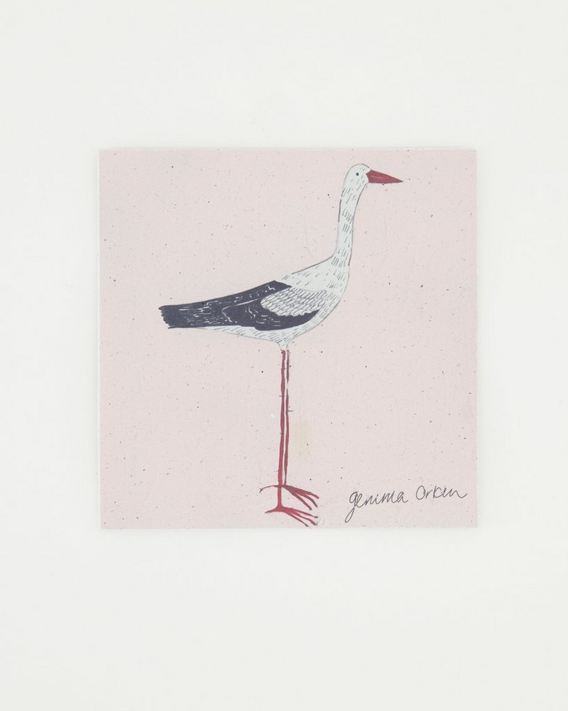 Gemma Orkin Bird Card -  pink