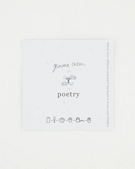 Gemma Orkin Bird Card -  blue
