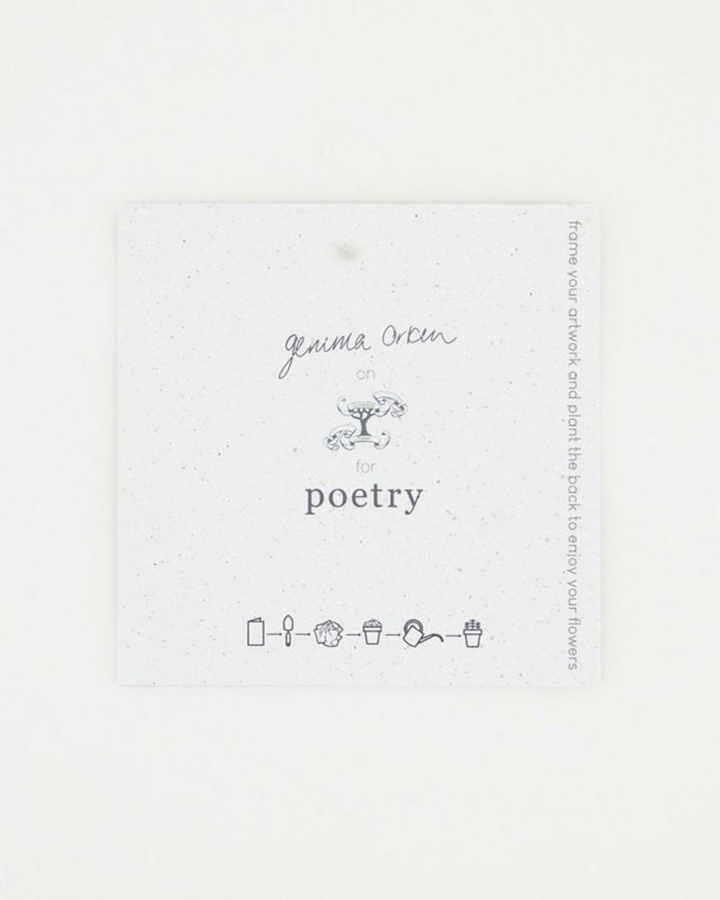Gemma Orkin Bird Card -  sage