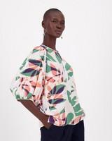Sinead Tropic Print Blouse -  green