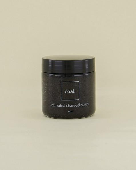 Coal Activated Charcoal Scrub -  black