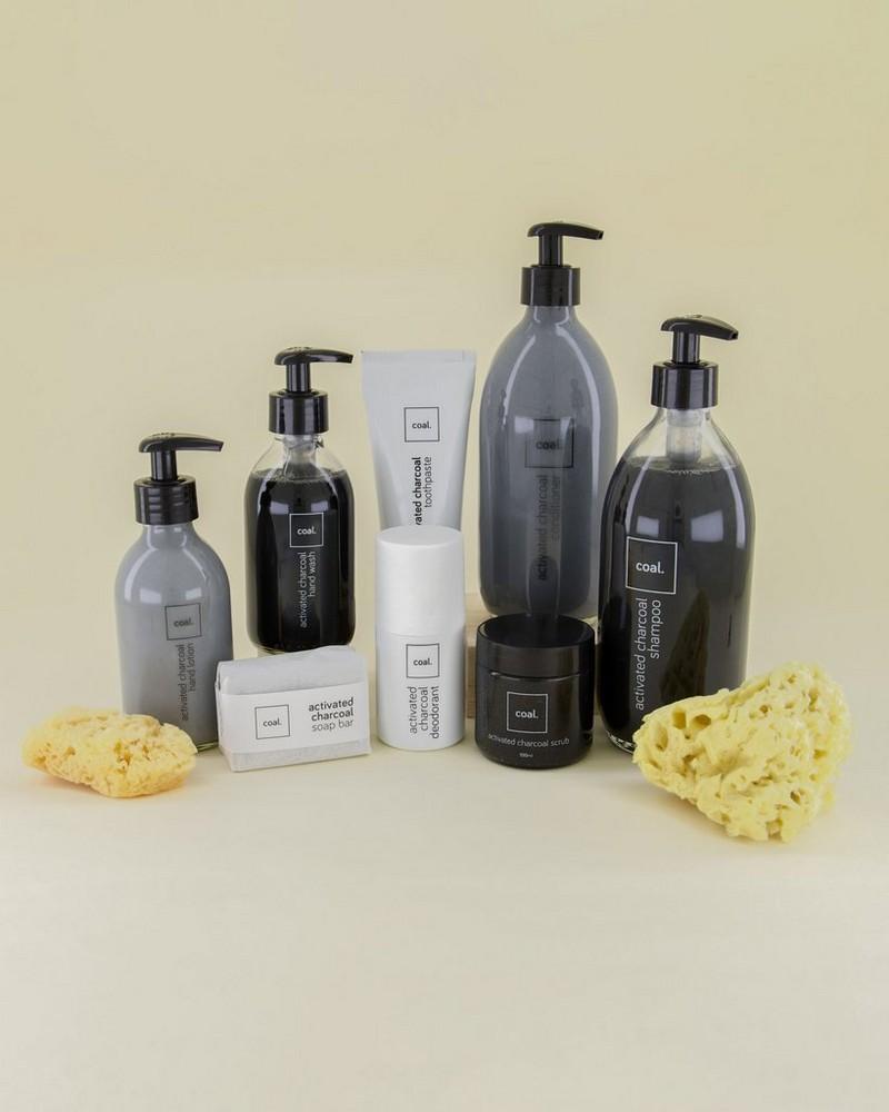 Coal Activated Charcoal Handwash -  black