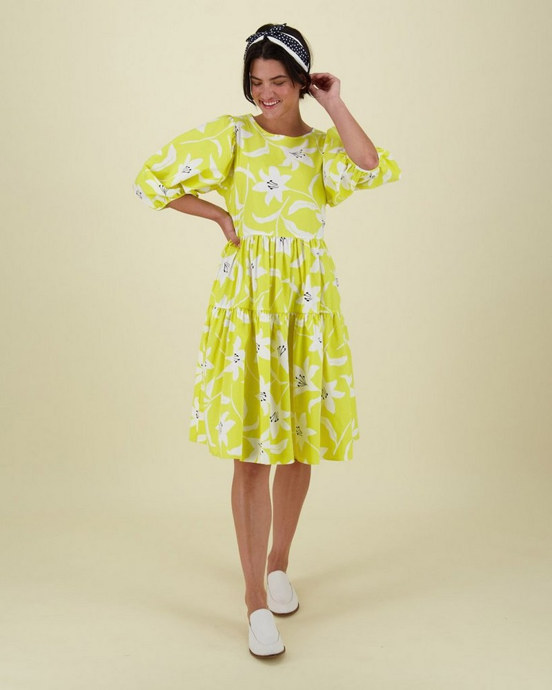 Poetry Lydea Dress -  yellow