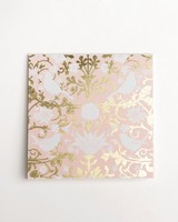Blush Chintz Card -  pink