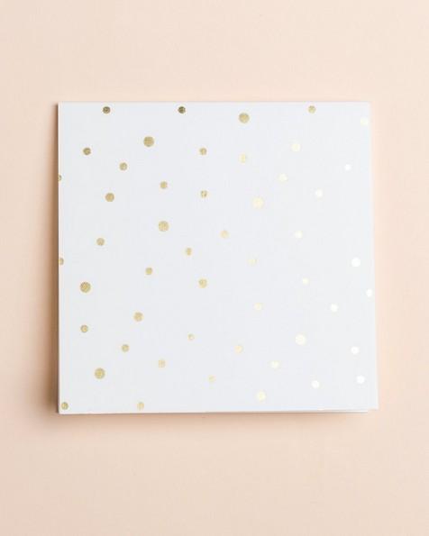 Gold Dot Card -  gold
