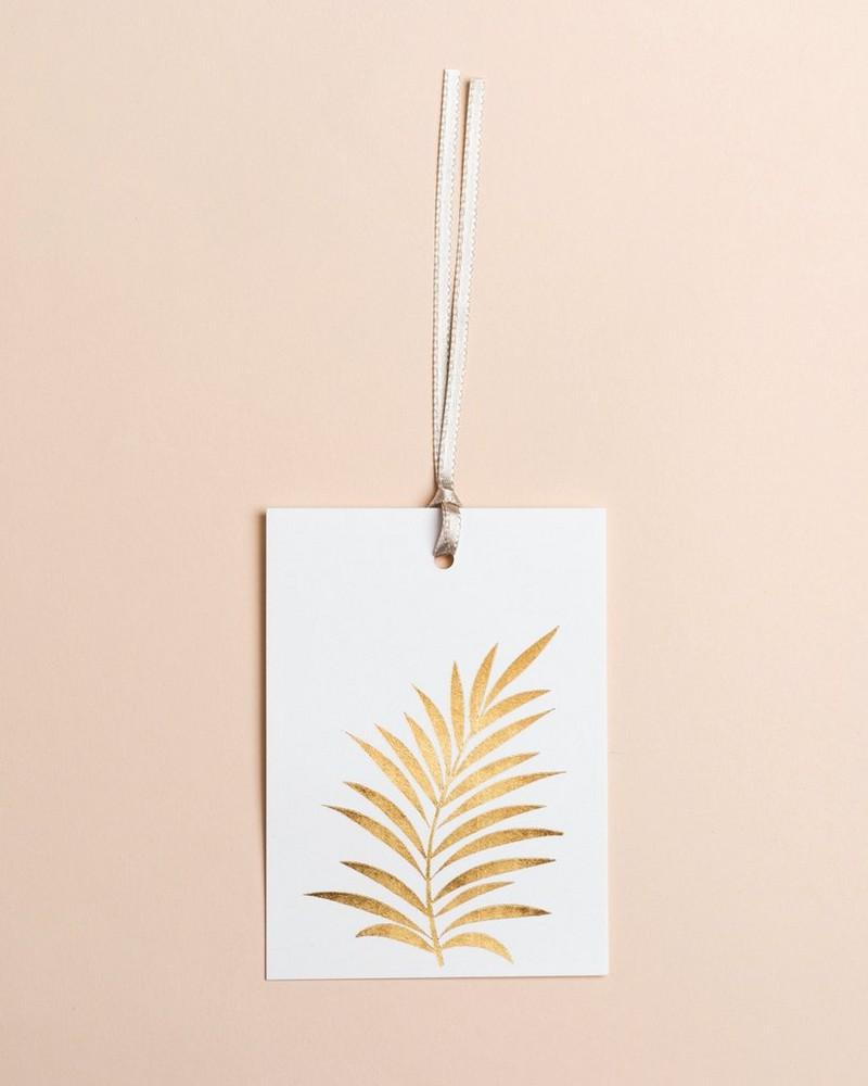 Gold Leaf Tag -  gold