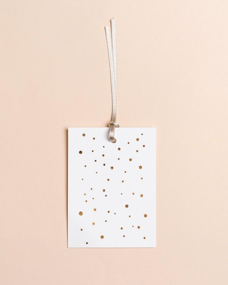 Gold Dot Tag -  gold