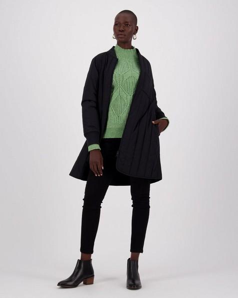 Cali Quilted Coat -  black