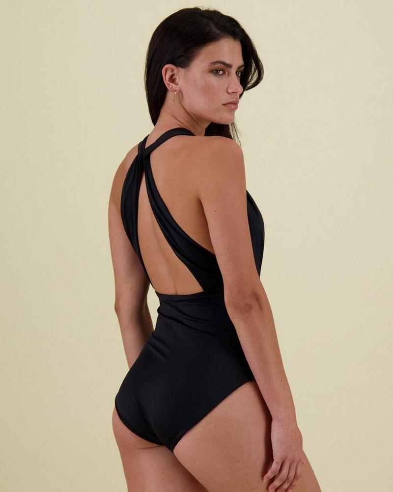Joy One-Piece Swimsuit -  black