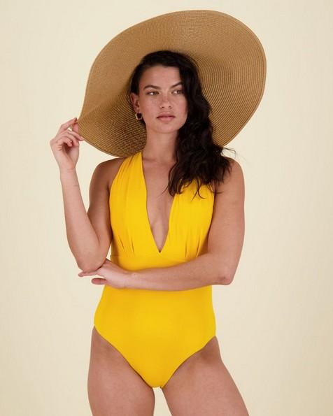 Joy One-Piece Swimsuit -  yellow