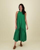 Kerry Tiered Dress -  green