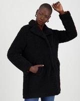 Zoe Teddy Coat -  black